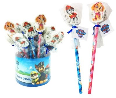 Paw Patrol potlood met gum assorti in Giftbox