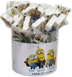 Minions potlood met gum assorti in Giftbox