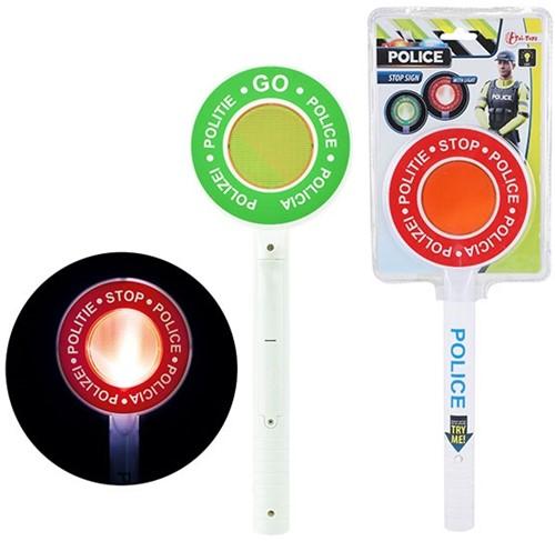 POLICE Stopbord politie (NL) met licht