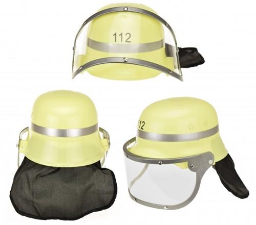 Brandweer helm met vizier