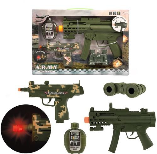 Militaire Speelset met geweren en accessoires B/O