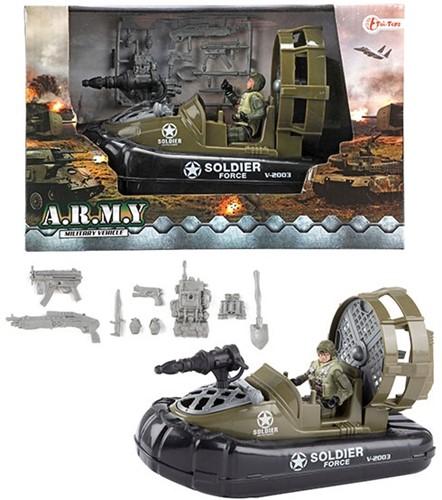 ARMY Motorboot militair met soldaat 18x28cm