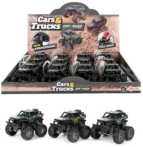 CARS&TRUCKS Monster truck pull back 3 assorti in display (12)