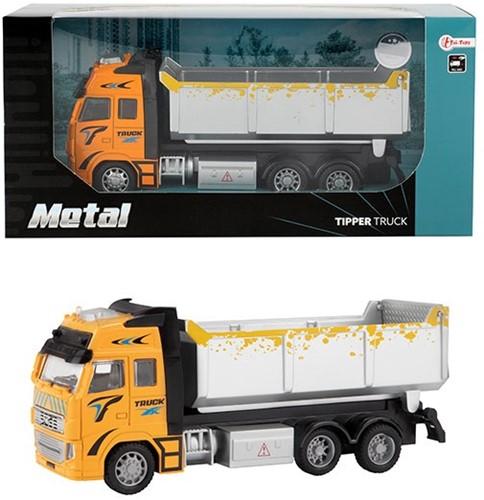 METAL Die-Cast Kiepwagen 1:38 pull back 12x25,5cm
