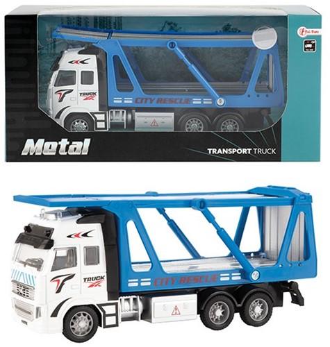 METAL Die-Cast Autotransporter 1:38 Pull Back 12x25,5cm