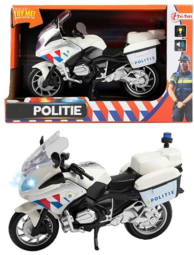 Politiemotor met Licht en Geluid 1:20 (NL / Politie) 14x22cm