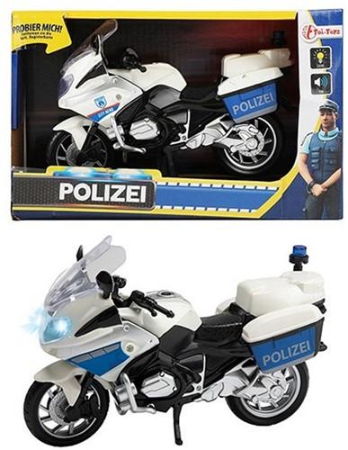 Politiemotor met Licht en Geluid 1:20 (DE / Polizei) 14x22cm