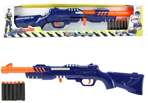 Foam blaster Militair geweer met 6 foampijlen 58cm