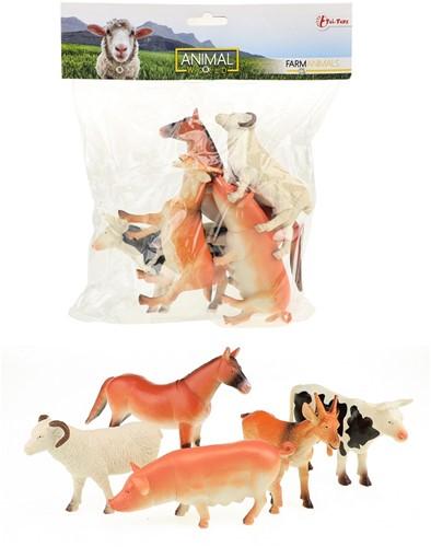 Boerderij dieren Deluxe in zak 5 stuks