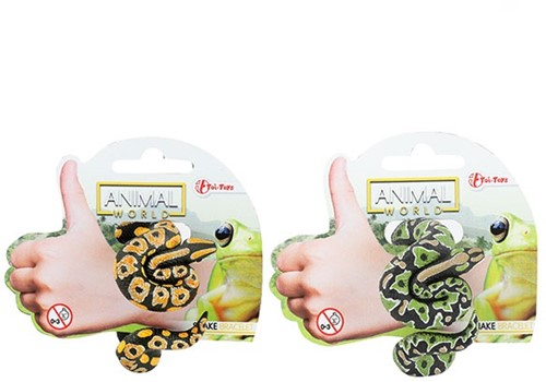 ANIMAL WORLD Levensechte slang 'Armband' 4 assorti