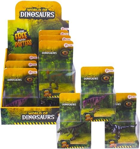 WORLD OF DINOSAURS Dino Speelfiguur 4 assorti in display 7cm