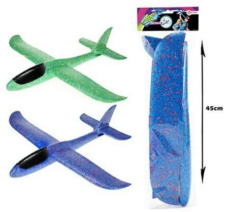 AIR XXL Foam vliegtuig 2 assorti 45cm