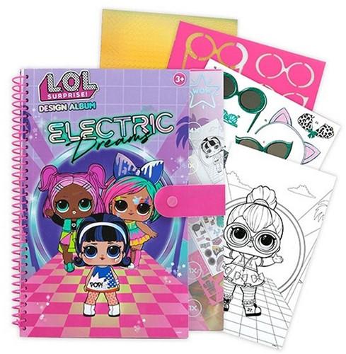 L.O.L Surprise! Electric Dreams Schetsboek mt sjabloon+stickers 23x30cm
