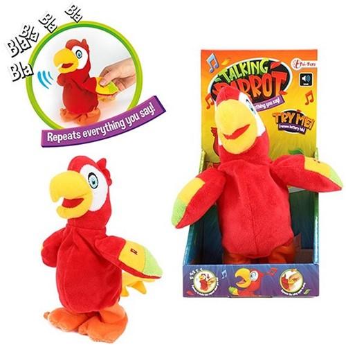 Papegaai -Praat en hij beweegt + zegt je na 25cm