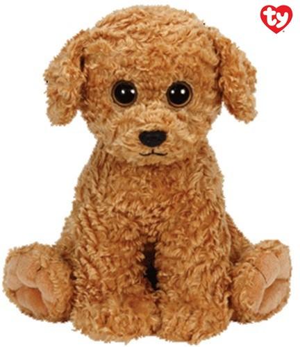 TY Pluche Hond bruin met Glitter ogen Luke 24cm