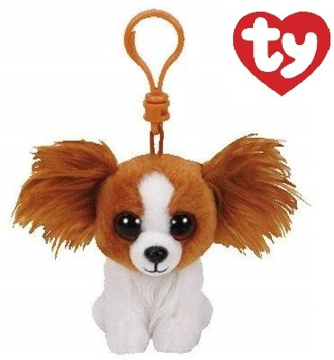 TY Pluche Hond Barks Bagclip 10cm