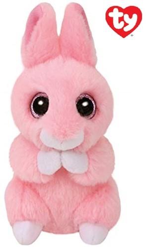 TY Pluche Konijn Roze met Glitter ogen Jasper 10cm
