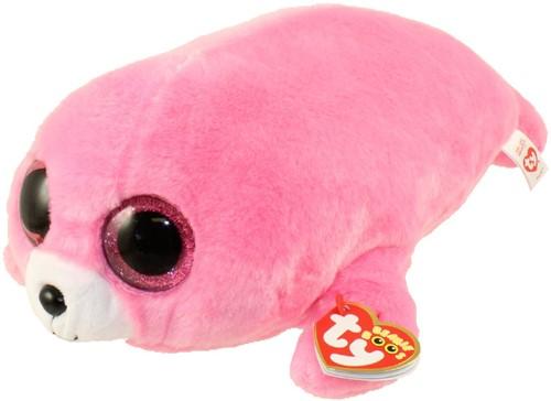 TY Pluche Zeehond roze met Glitter ogen Pierre 24cm