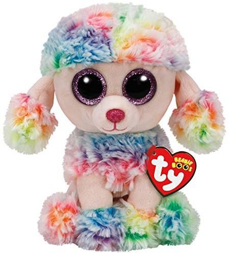 TY Pluche Poedel gekleurd met Glitter ogen Rainbow 24cm