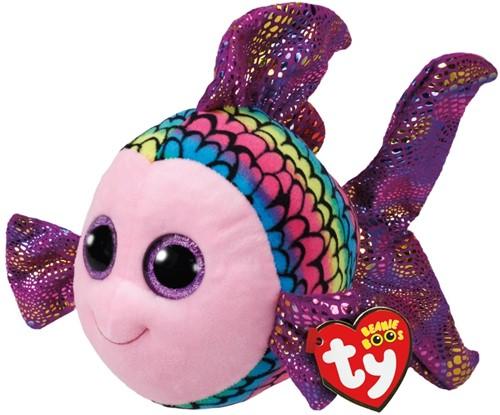 TY Pluche Vis gekleurd met Glitter ogen Flippy 42cm