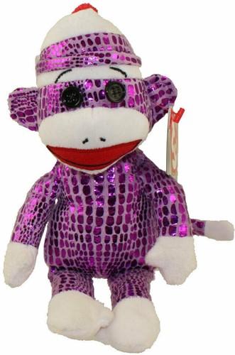 TY Pluche SocksAap Violet Socks 15cm