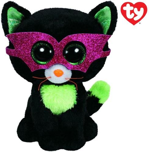 TY Pluche Halloween Kat met Glitter ogen Jinxy 15cm