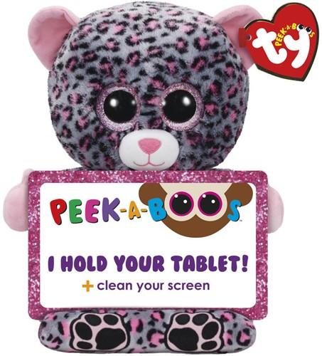 TY Pluche Tablethouder Luipaard met Glitter ogen Trixi 32cm