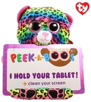TY Pluche Luipaard met Glitter ogen Tablethouder Lance 32cm