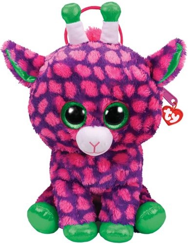 TY Pluche Rugzak Giraffe met Glitter ogen Gilbert 30cm