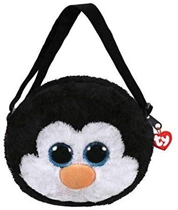 TY Pluche Schoudertas Pinguin met Glitter ogen Waddles