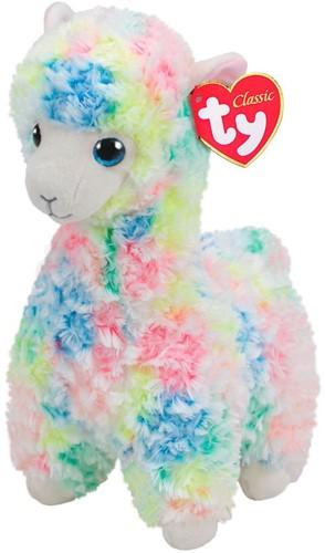 TY Pluche Lama gekleurd met Glitter ogen Lola 33cm