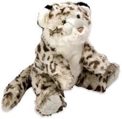 Pluche Sneeuw Luipaard zittend 40cm
